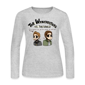 Winchesters vs. The World (DESIGN BY MICHELLE) - Women's Long Sleeve Jersey T-Shirt