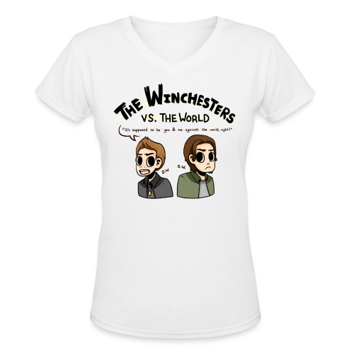 Winchesters vs. The World (DESIGN BY MICHELLE) - Women's V-Neck T-Shirt