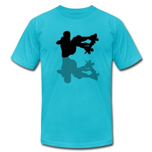 Skateboarder's Shadow - Men's T-Shirt by American Apparel