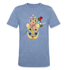 Hamsa and Flowers - Unisex Tri-Blend T-Shirt by American Apparel