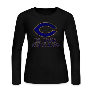 C is for Chicago - Women's Long Sleeve Jersey T-Shirt