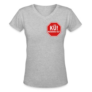 (Hawaiian) Stop! Hammer Time! - Women's V-Neck T-Shirt