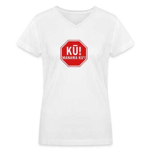 (Hawaiian) Stop! Hammer Time! - Women's V-Neck T-Shirt