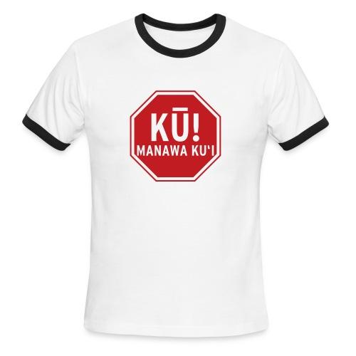 (Hawaiian) Stop! Hammer Time! - Men's Ringer T-Shirt