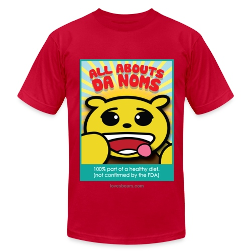 All about the noms (15) - Men's Fine Jersey T-Shirt