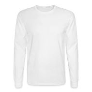 Long Sleeve Shirts ~ Men's Long Sleeve T-Shirt ~ LOA - white fuzzy on white