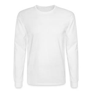 LOA - white fuzzy on white - Men's Long Sleeve T-Shirt