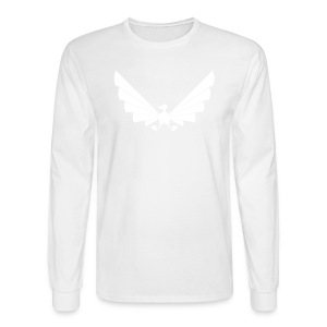 LOA - white fuzzy on white - Men's Long Sleeve T-Shirt