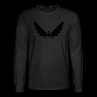 Long Sleeve Shirts ~ Men's Long Sleeve T-Shirt ~ LOA - fuzzy black on black