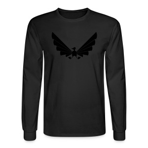 LOA - fuzzy black on black - Men's Long Sleeve T-Shirt