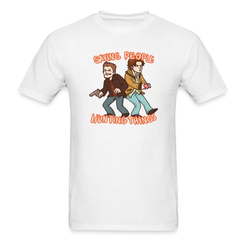 Saving People, Hunting Things (DESIGN BY STEFFANY) - Men's T-Shirt