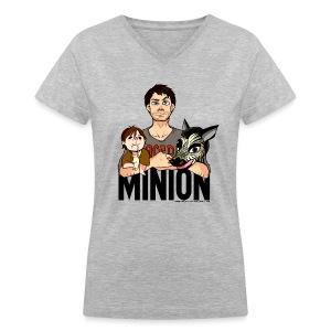 Misha Collins [Minion] (DESIGN BY KARINA) - Women's V-Neck T-Shirt