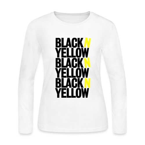 blacknyellow- Ladies longsleeve - Women's Long Sleeve Jersey T-Shirt