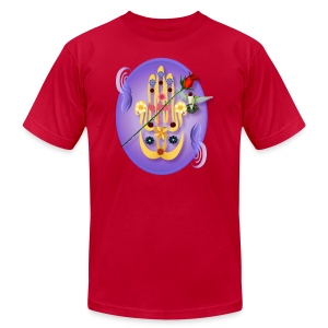 Hamsa and Flowers Oval - Men's T-Shirt by American Apparel