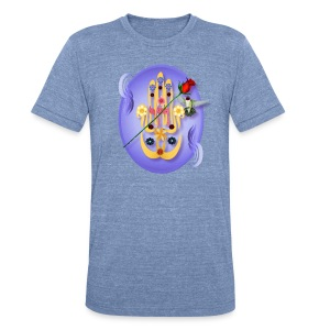 Hamsa and Flowers Oval - Unisex Tri-Blend T-Shirt by American Apparel