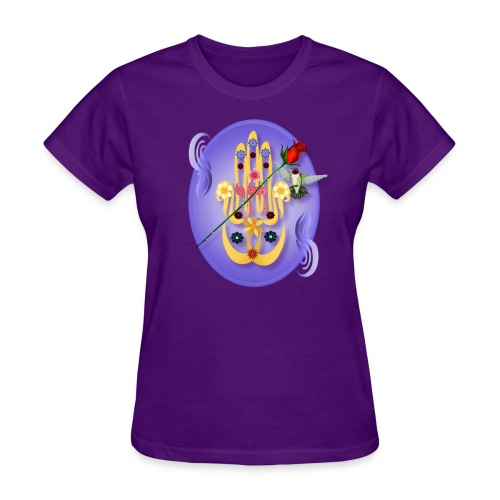 Hamsa and Flowers - Women's T-Shirt