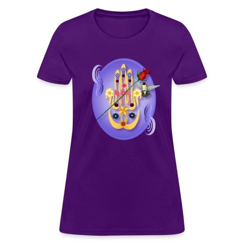 Hamsa and Flowers - Women's T-Shirt