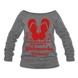 (Hawaiian) Ruby Slippahs - Women's Wideneck Sweatshirt