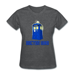 TARDIS/Customizable Text - Women's T-Shirt