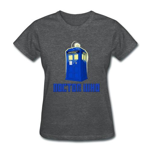 TARDIS/Customizable Text - Women's T-Shirt