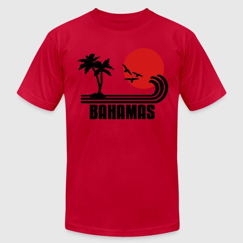 Bahamas Palm Trees Sun Beach Retro Design Wanderlust T
