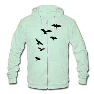 Flying Birds, the free-flying birds Zip Hoodies/Jackets