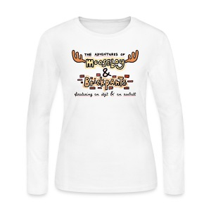 Adventures of Mooseboy & Brickpants (DESIGN BY MICHELLE) - Women's Long Sleeve Jersey T-Shirt