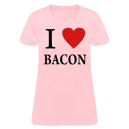 Women love bacon - Women's T-Shirt