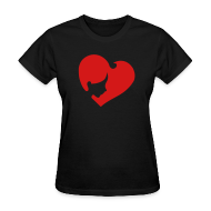 Women's T-Shirts ~ Women's T-Shirt ~ Heart Face