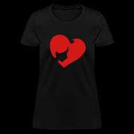 Women's T-Shirts ~ Women's T-Shirt ~ Heart Face