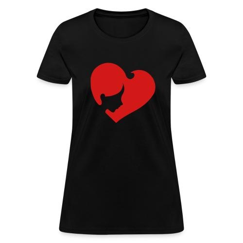 Heart Face - Women's T-Shirt