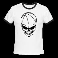 T-Shirts ~ Men's Ringer T-Shirt ~ Skull Basketball