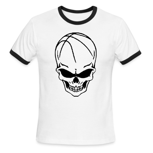 Skull Basketball   - Men's Ringer T-Shirt