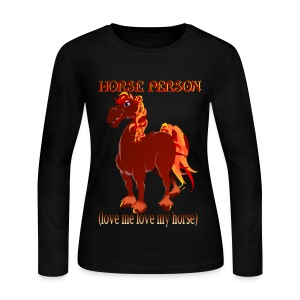 Love Me Love My Horse - Women's Long Sleeve Jersey T-Shirt