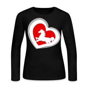 Hrose Heart - Women's Long Sleeve Jersey T-Shirt