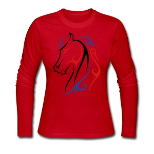 Horse Tatoo - Women's Long Sleeve Jersey T-Shirt