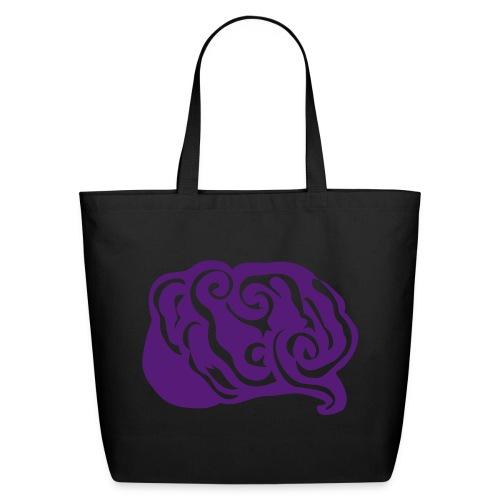 Abstract Art Purple Epilepsy Brain Creme Eco-Friendly Cotton Tote - Eco-Friendly Cotton Tote
