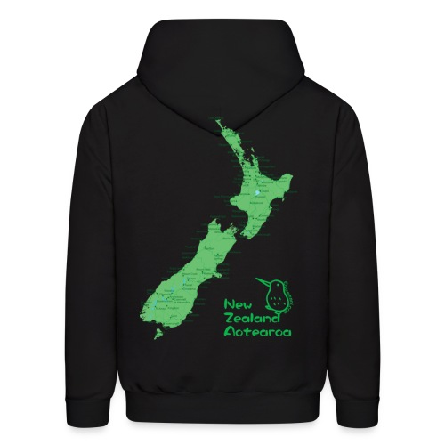 New Zealand's Map - Men's Hoodie