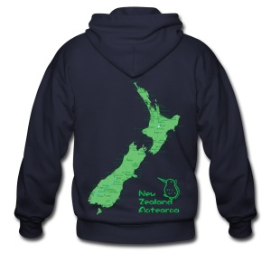 New Zealand's Map - Men's Zip Hoodie