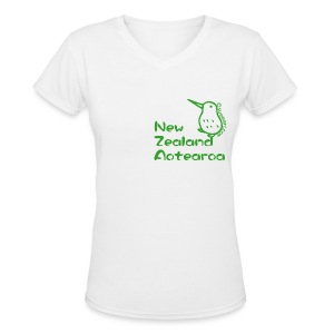 New Zealand's Map - Women's V-Neck T-Shirt