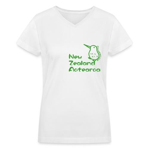 New Zealand's Map - Women's V-Neck T-Shirt