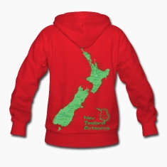 New Zealand's Map Hoodies