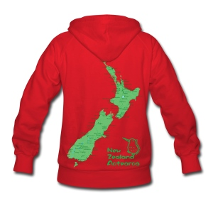 New Zealand's Map - Women's Hoodie