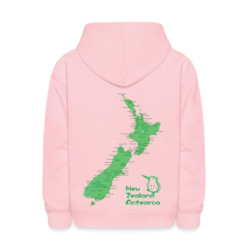 New Zealand's Map - Kids' Hoodie