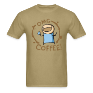 T-Shirts ~ Men's T-Shirt ~ OMG Coffee Standard Tee