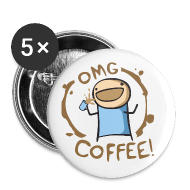 Buttons ~ Large Buttons ~ OMG Coffee BUTTON 5pk!