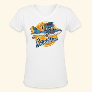 Gambler (Vintageprint) - Women's V-Neck T-Shirt