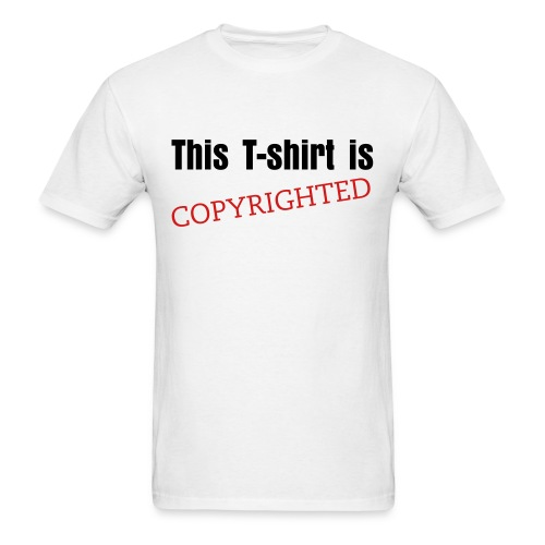 This T Is Copyrighted Boy - Men's T-Shirt