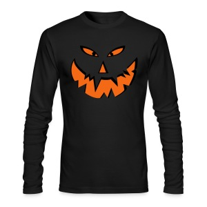 Pumkin Face - Men's Long Sleeve T-Shirt by Next Level