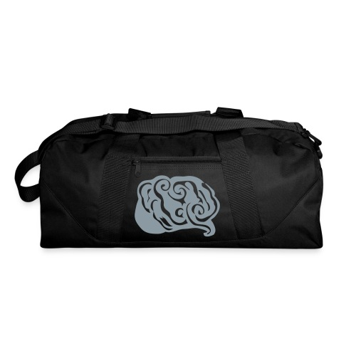 Metallic Silver Abstract Art Brain Duffel Bag - Duffel Bag